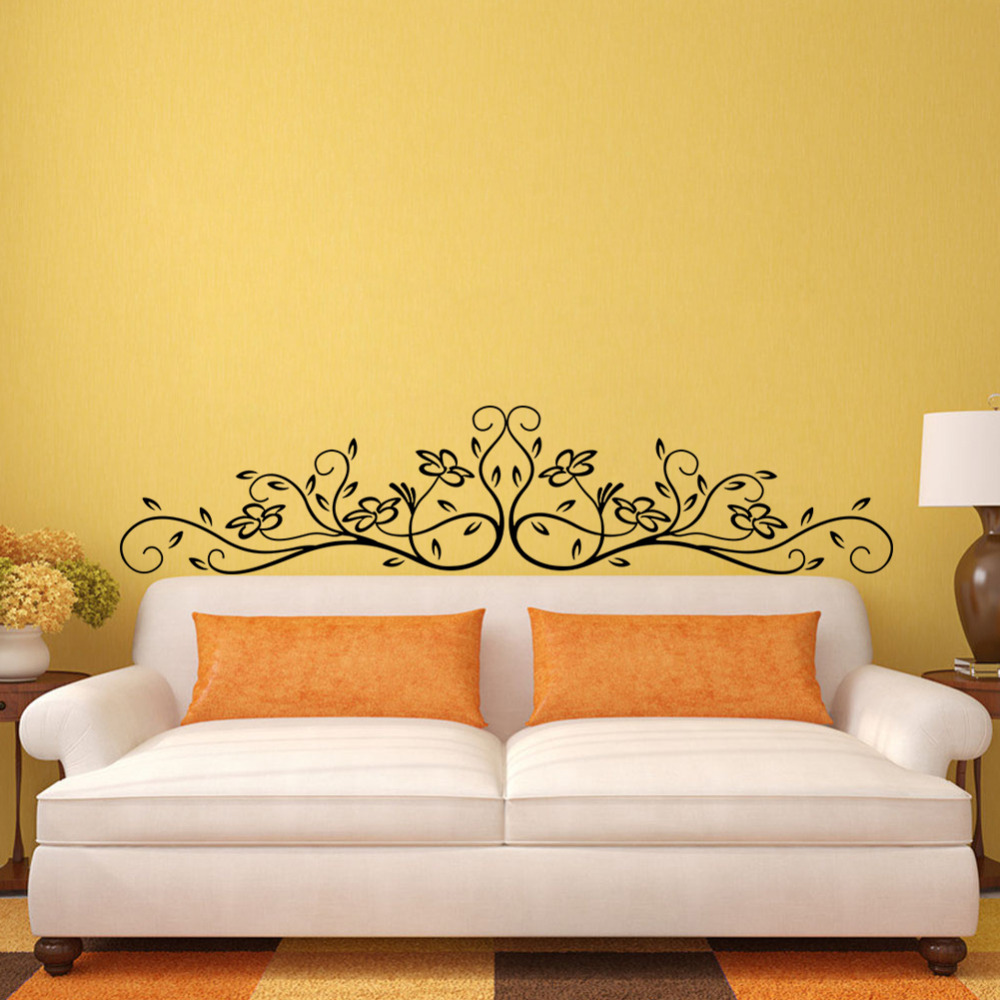 classical design tree flora plant/waterproof removable wall sticker ...