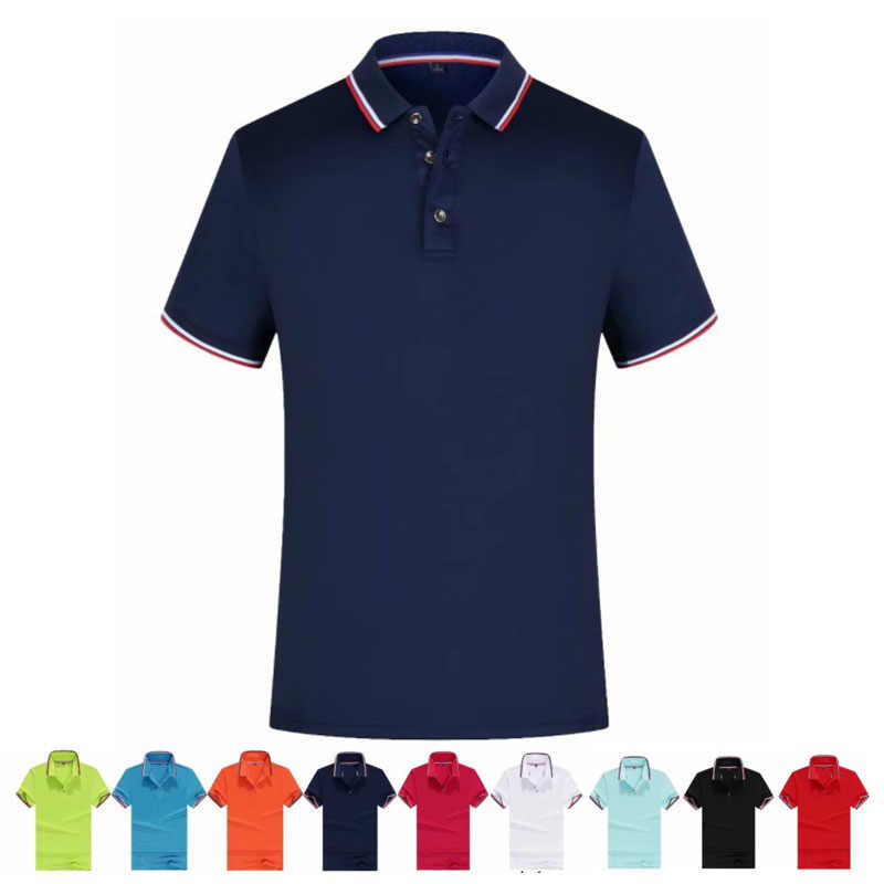 Men Training Polos Shirts Adults Cotton Casual Short Sleeve T Shirt Clothes Pure Color Jerseys Golf Tennis Sports Shirts