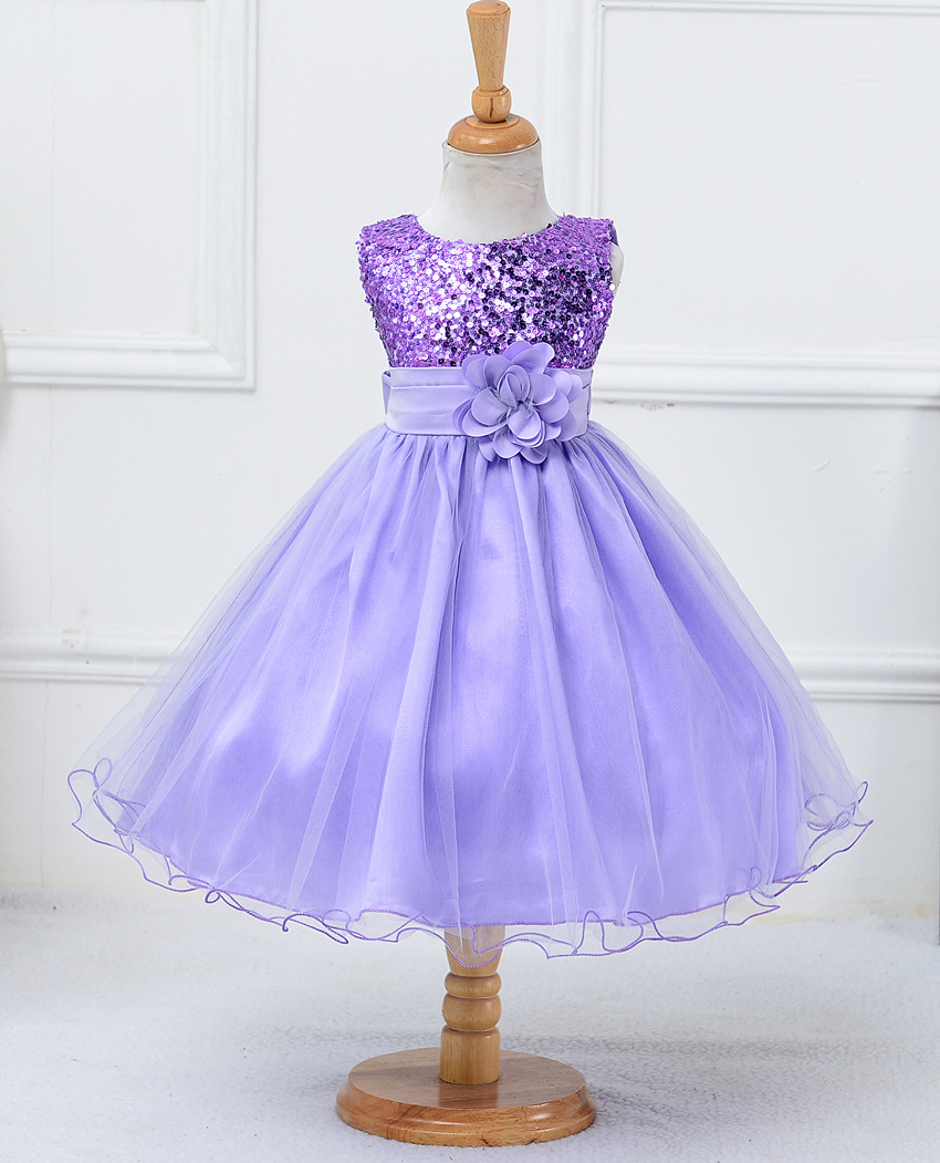 2017 New Tulle Baby Girl Dress Bridesmaid Flower Girl Wedding Dress Fluffy Ball Gown Birthday Evening Prom Tutu Party Dress silver gray purple pink blue ball gown tutu soft tulle puffy flower girl dress baby 1 year birthday dress with spaghetti straps