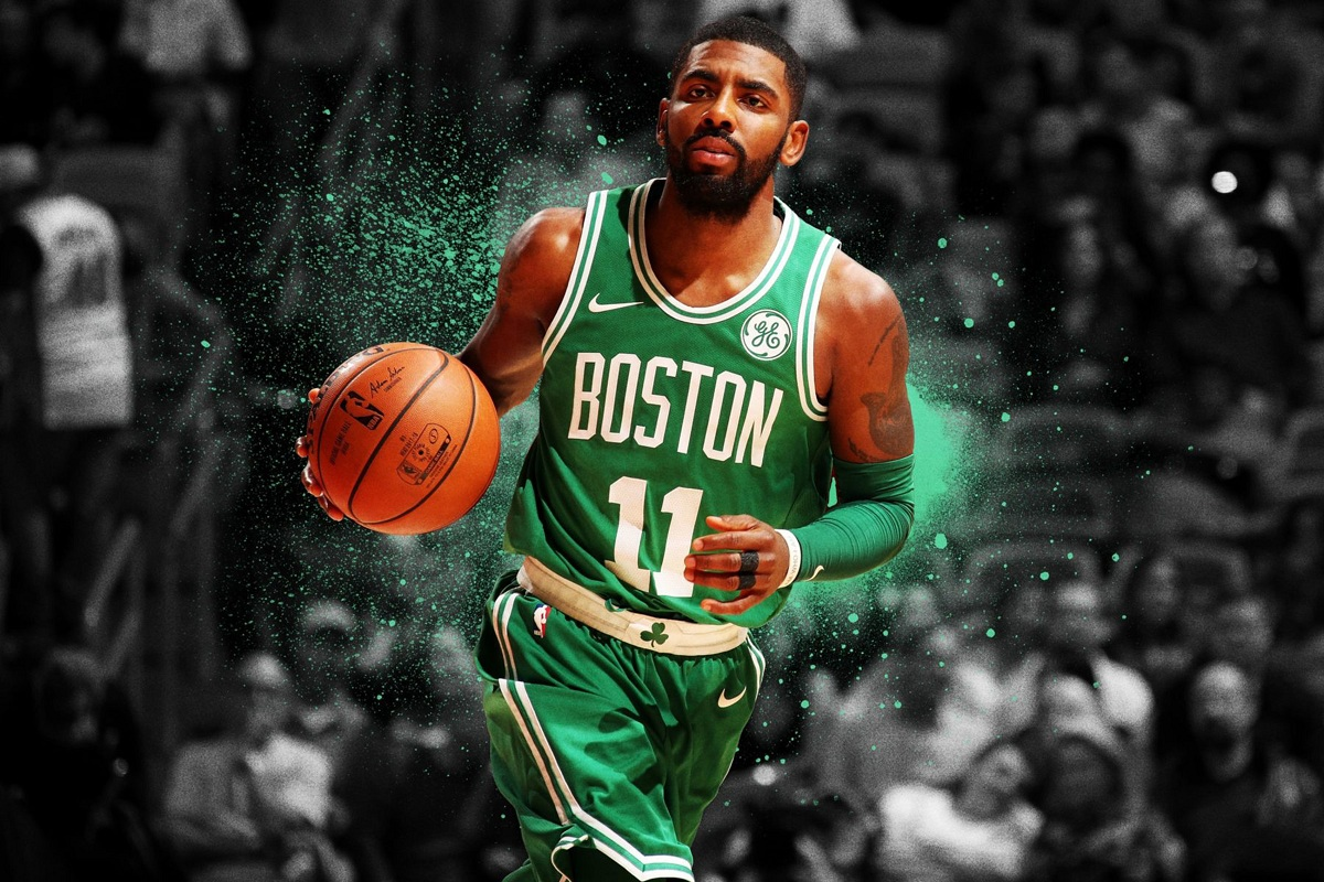 Fabric Poster Basketball-Player Kyrie Irving Wall-Art Boston Celtics -Frame-Available