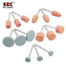 Juego de piedra de montaje abrasiva para Dremel, herramientas rotativas, cabezal de rueda de piedra de molienda, accesorios de herramientas Dremel, 15 unidades