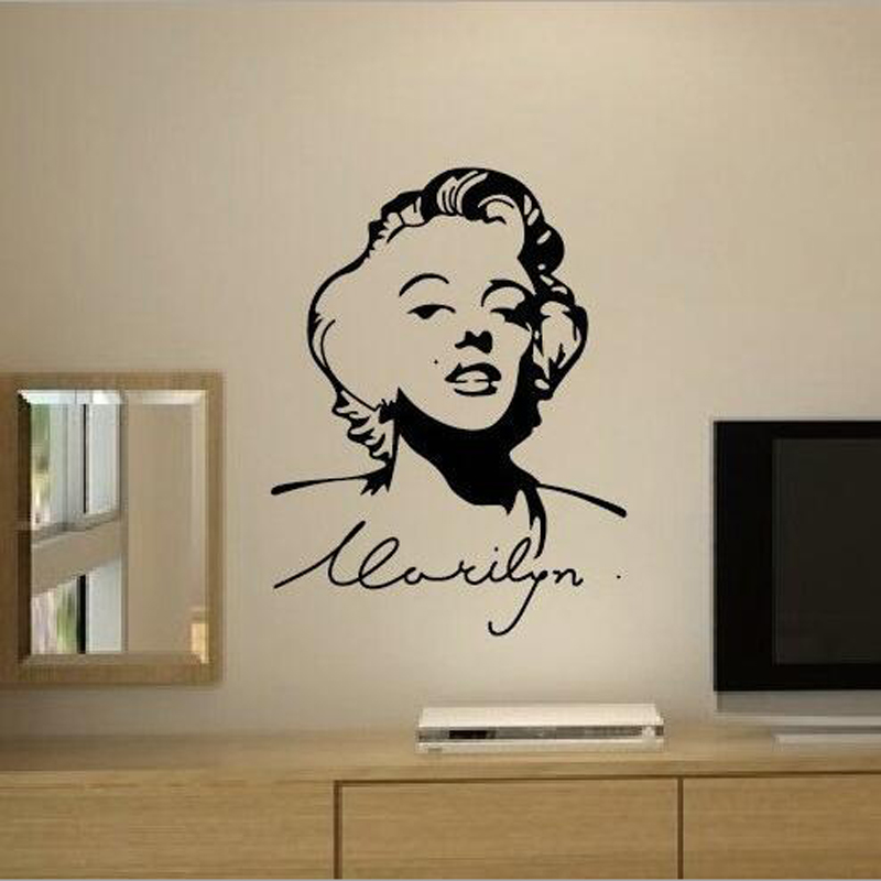 Marilyn Monroe Wall Decals Home Design Decoration Vintage Poster Living  Room Home Decor Beauty Salon Wall Art Murals Vinyl A894 In Wall Stickers  From Home ...