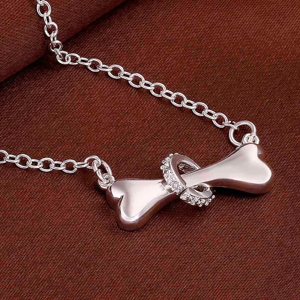 PRP3 Lady fashion fine jewery cute bone pendant ,chain lengch 45cm necklace for lover anniversary gift bone pendant chain necklace