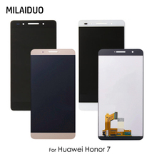 LCD Display For Huawei Honor 7 Touch Screen Digitizer Assembly Replacement Parts Black White Gold No Frame 5.2 Inch 100% New for new touch screen digitizer glass replacement huawei mediapad 7 youth2 youth 2 s7 721u s7 721 7 inch black free shipping
