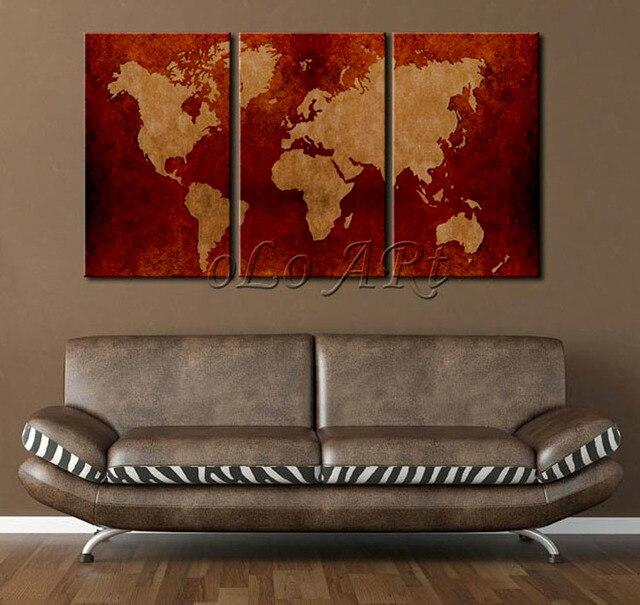 2014 Neue Riesige Alte Weltkarte Leinwand Malerei Printed Kein Rahmen  Moderne Wandmalerei Home/wohnzimmer Sammlung