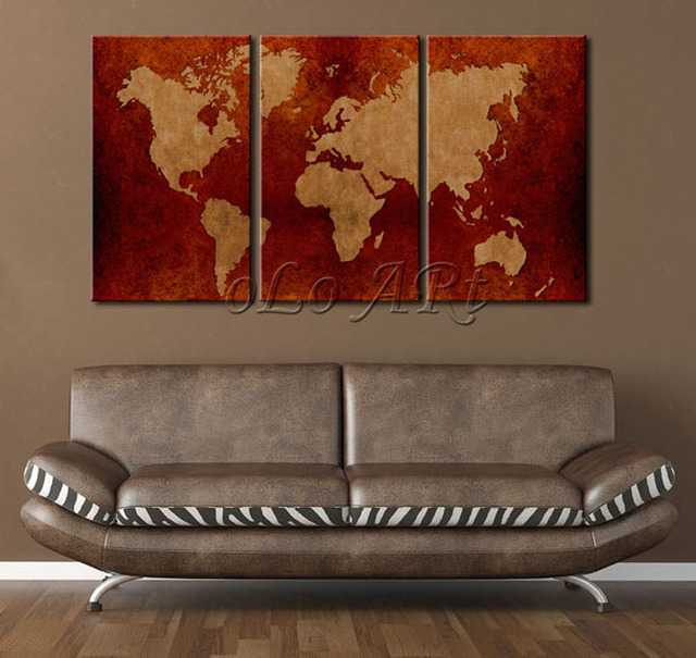 2014 new huge ancient world map canvas painting printed no frame 2014 new huge ancient world map canvas painting printed no frame modern wall painting home gumiabroncs Images