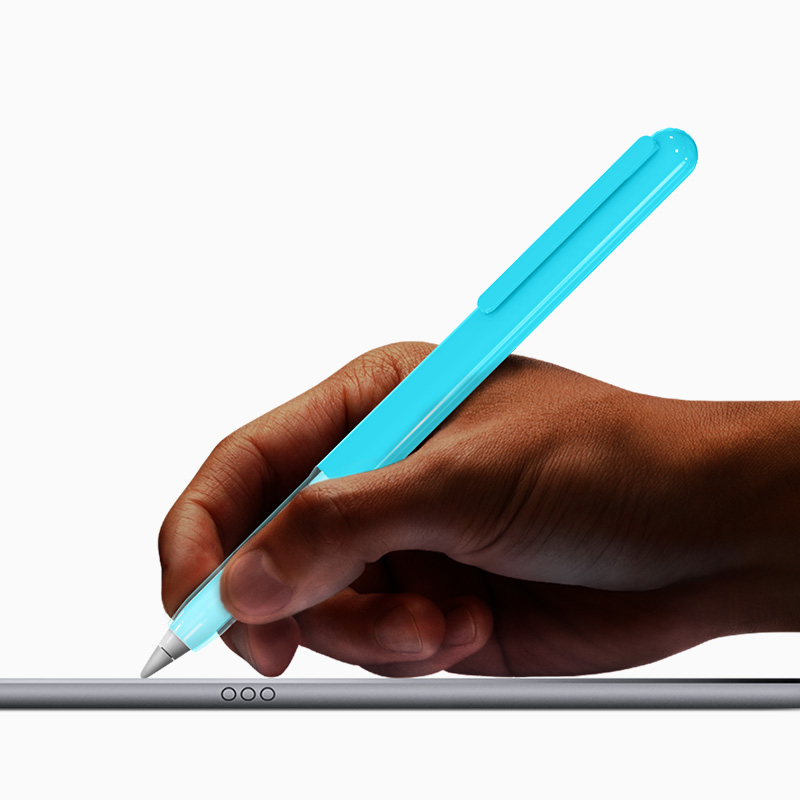 Hard PC Transparent Color Protective Case For Apple Pencil - Pen Cover Holder With Built-in Clip For IPad Pro 9.7 10.5 12.9 Pen