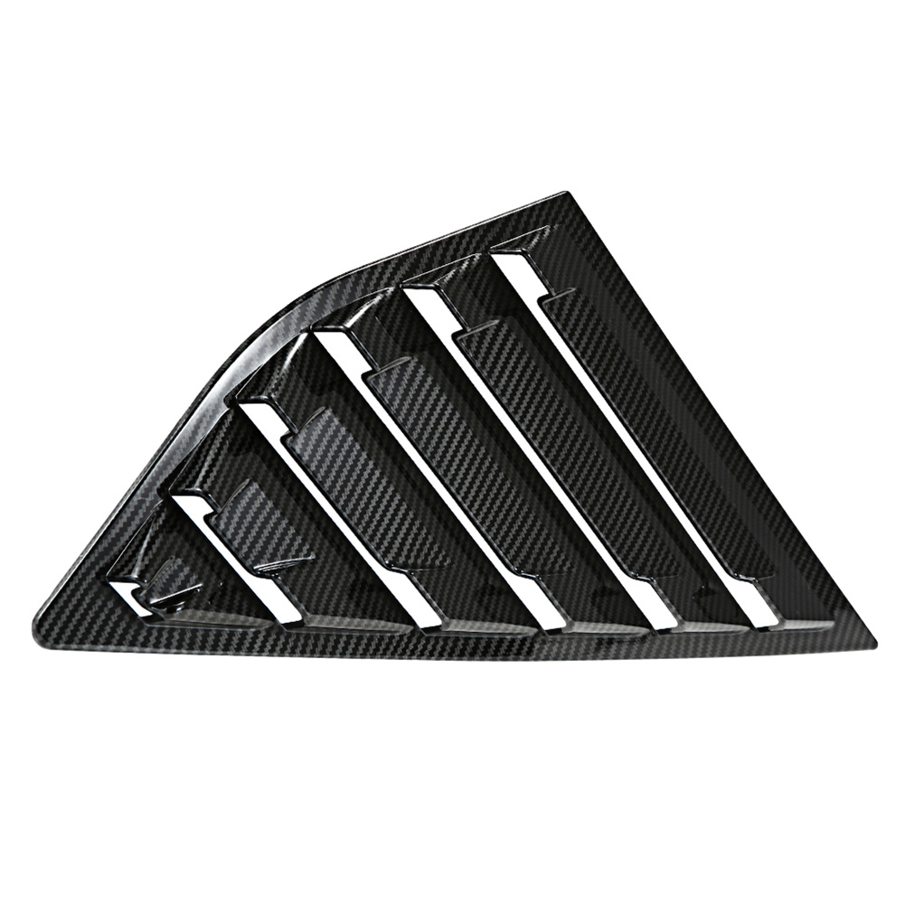 Image 4 - 2019 Hot 1 Pair Side Louvers Vent Hatchback Carbon Fiber ABS Window for Ford Focus ST RS MK3 JLD Peugeot-in Windshields from Automobiles & Motorcycles