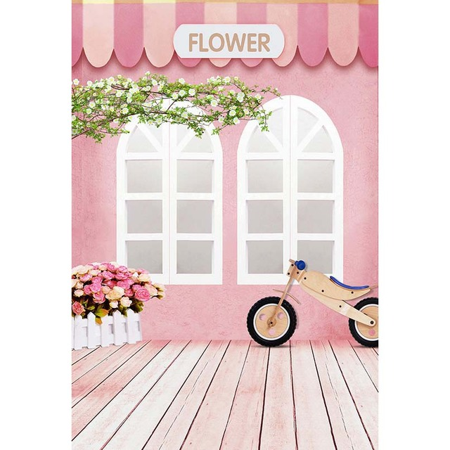 Vinyl Cloth Cute Pink House Photography Backgrounds For Baby Photo Studio Portrait Backdrops S 3025