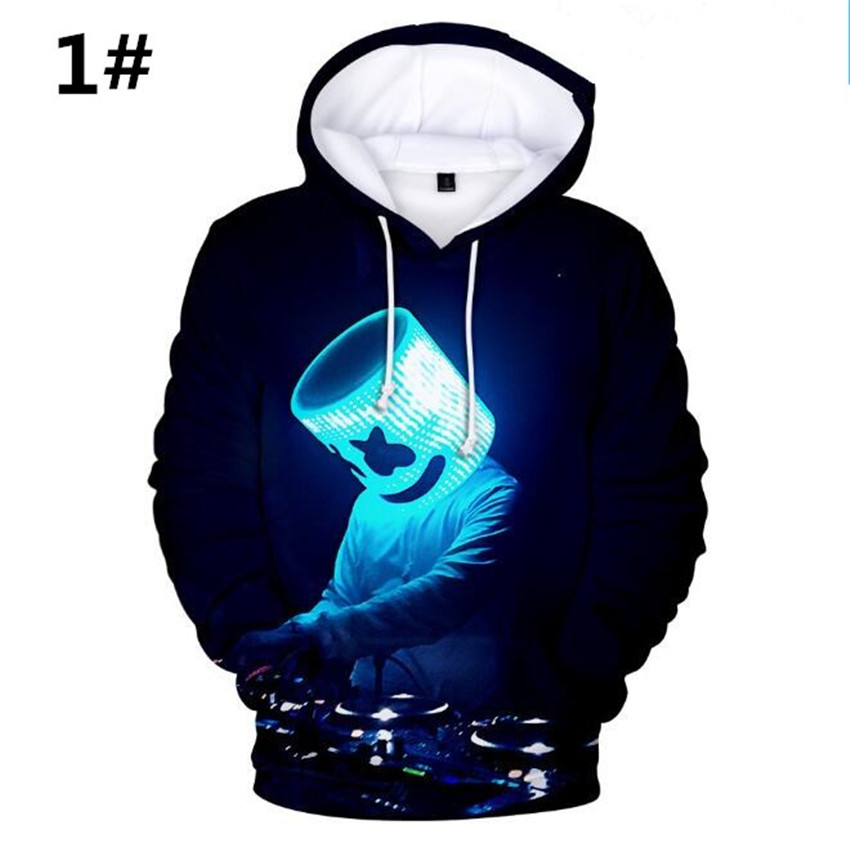 Marshmallow Cosplay hoodies  DJ Marshmello Cos Halloween party Adult Cosplay costume A679