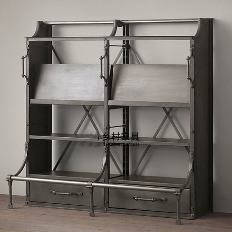 Iron furniture creative personality retro antique bookcase shelf