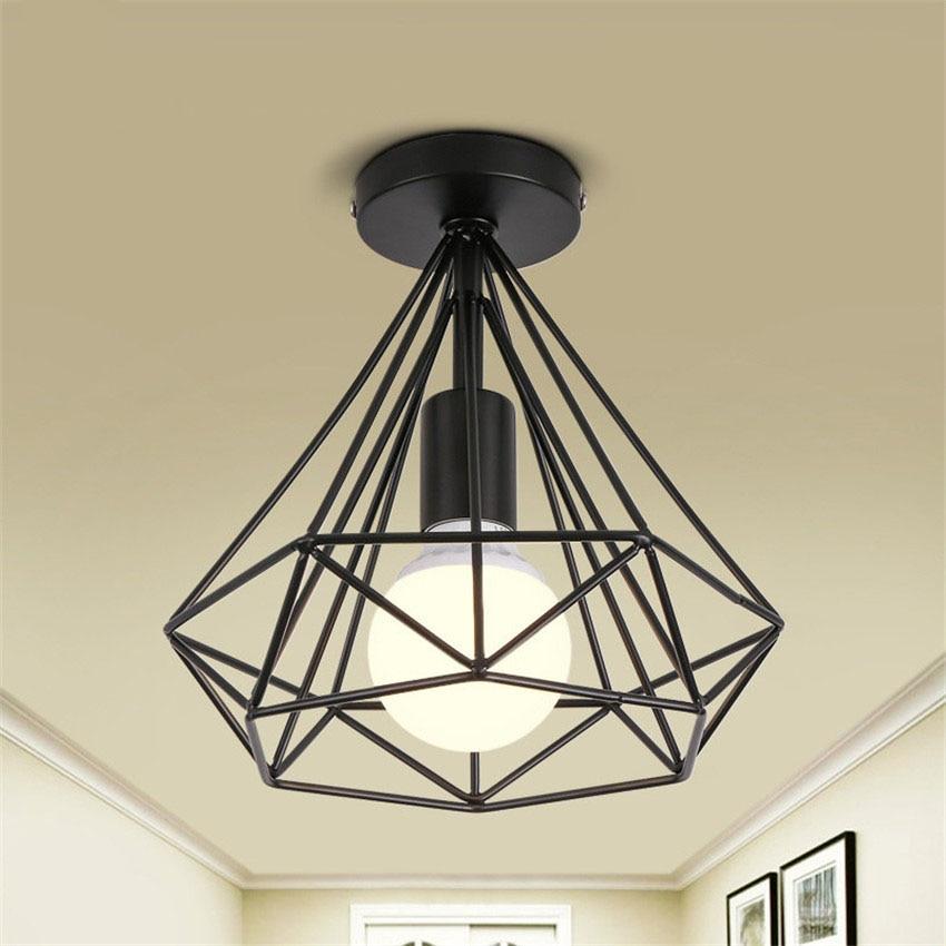 Moderne Retro Eisen diamant deckenleuchten esszimmer lampen Loft ...