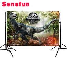 Vinyl Jurassic World Photography Backdrop Dinosaur Safari Jungle Party Backdrops for Birthday Photo Background 7x5ft
