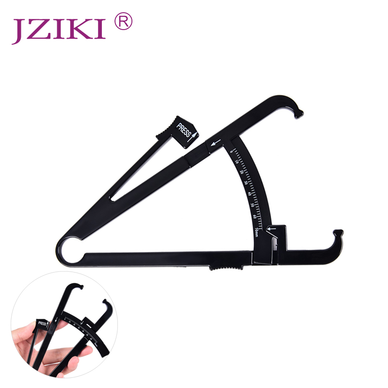 JZIKI Personal Body Fat Caliper Skin Analyzer Measure Charts