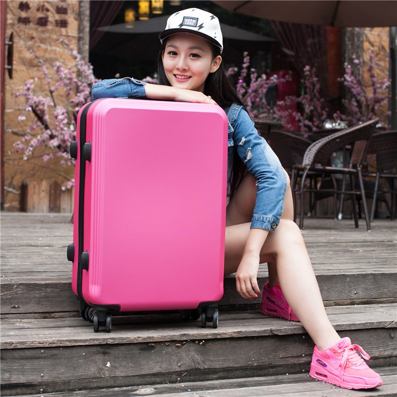 2024 inches girl trolley case ABS+PC students women lovely Travel waterproof luggage rolling suitcase men business Boarding box