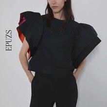 Trasporto libero dellannata delle donne top e camicette nero ufficio elegante camicetta delle donne camicie streetwear coreano signore di abbigliamento di moda top blusasCamicette e gonne
