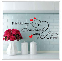 Kitchen Wall Stickers Sweet Food DIY Wall Art Decal Decoration Oven Dining Hall Wallpapers PVC Wall Decals Home Decor(China)