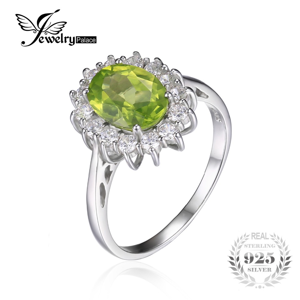 peridot rings engagement ring vintage diamond