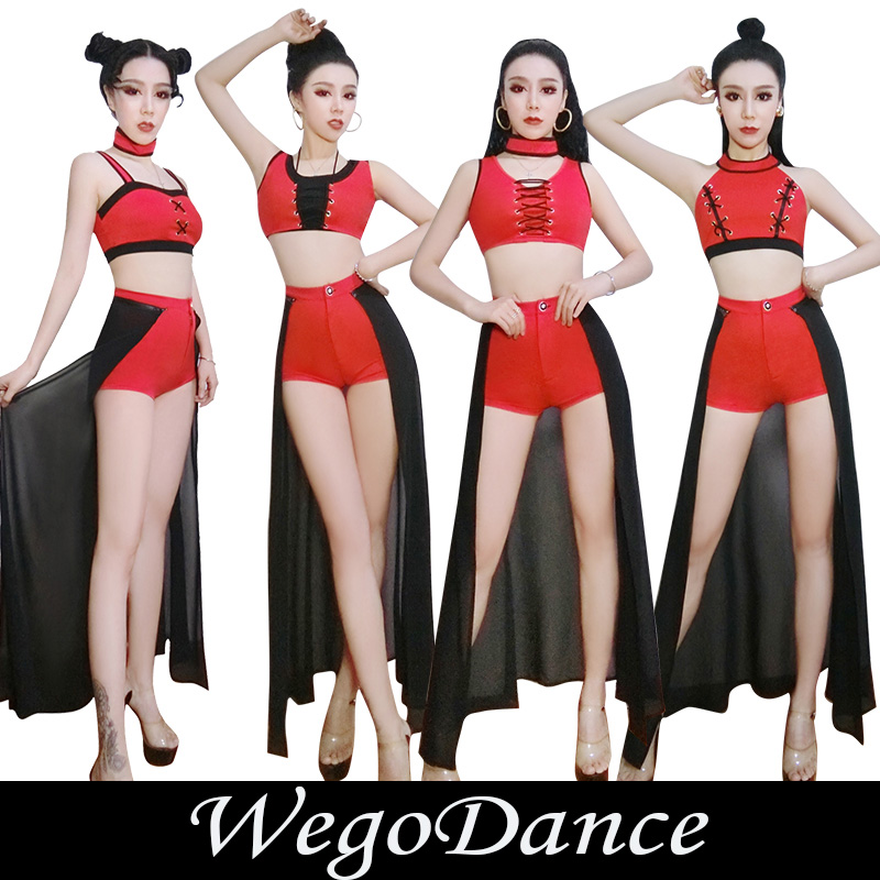 New Women's Jazz Dance Bar Dj Costume Club Dance Evening Show Ds Singer Dancer Clothing Set
