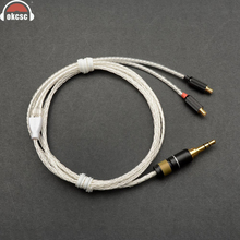 OKCSC Headphone Cords A2DC Interface Cable 3.5mm Plug Upgrade cable 8 Cores Plated Silver for ATH-CKR100/ATH-CKR90/ATH-CKS1100