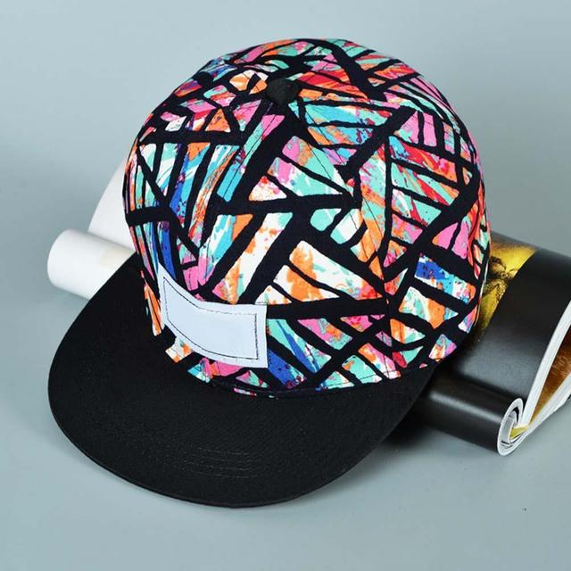 Fashion Snapback Adjustable Baseball Cap Hip Hop hat Cool Floral Print  black walking hats for men hat A190 75c03b5e9ca5