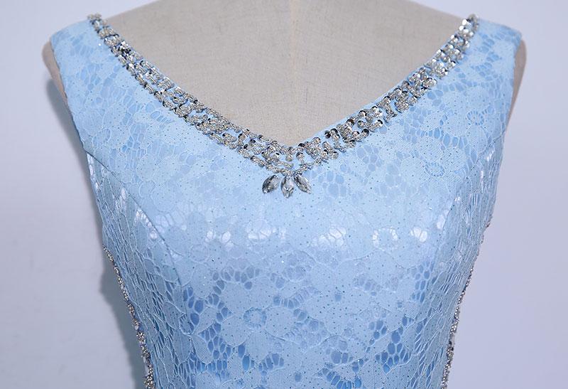 Lace Mama rochii de mireasa Beads Crystal Long Rochie femei Rochie de - Rochii de seară de nuntă - Fotografie 4