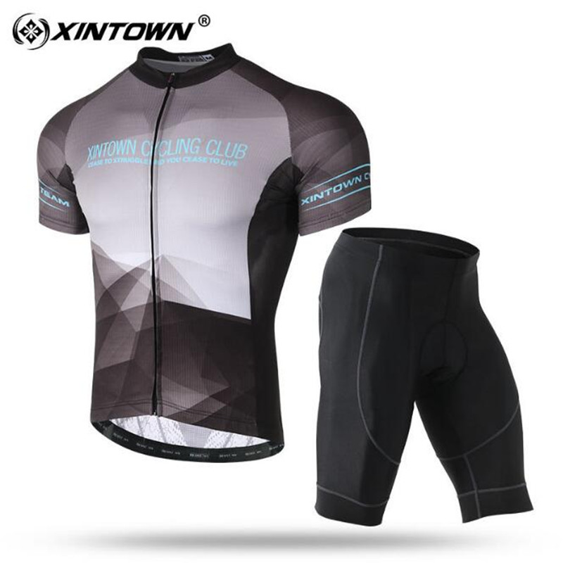 XINTOWN 2018 Cycling Clothing Set Summer Short Sleeve Mountain Road Bike Clothes Men Bicycle Jersey Pro Team Sports Suit