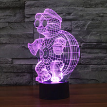 Free Shipping 7 Multi Color Changing Little Tortoise 3D LED Night Light USB LED Decorative Table Lamp Desk Mood Lighting