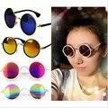 Agora As Mulheres Clássicas Da Moda Rodada Do Vintage Estilo Retro Clássico Armações De Metal óculos de Sol UV400 Quente Muitos Clors