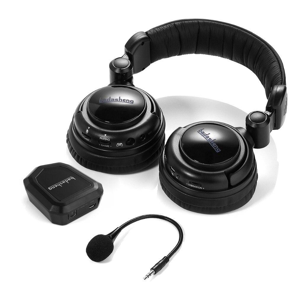 2.4 ghz Optique Sans Fil Stéréo Vibration Casque Gaming Pour Xbox 360 s, PS4/3 PC, mac TV XBox One Avec Micro Détachable