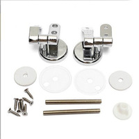 New Toilet Seat Replacement Hinge Set Chrome Finish Hinges With Fittings