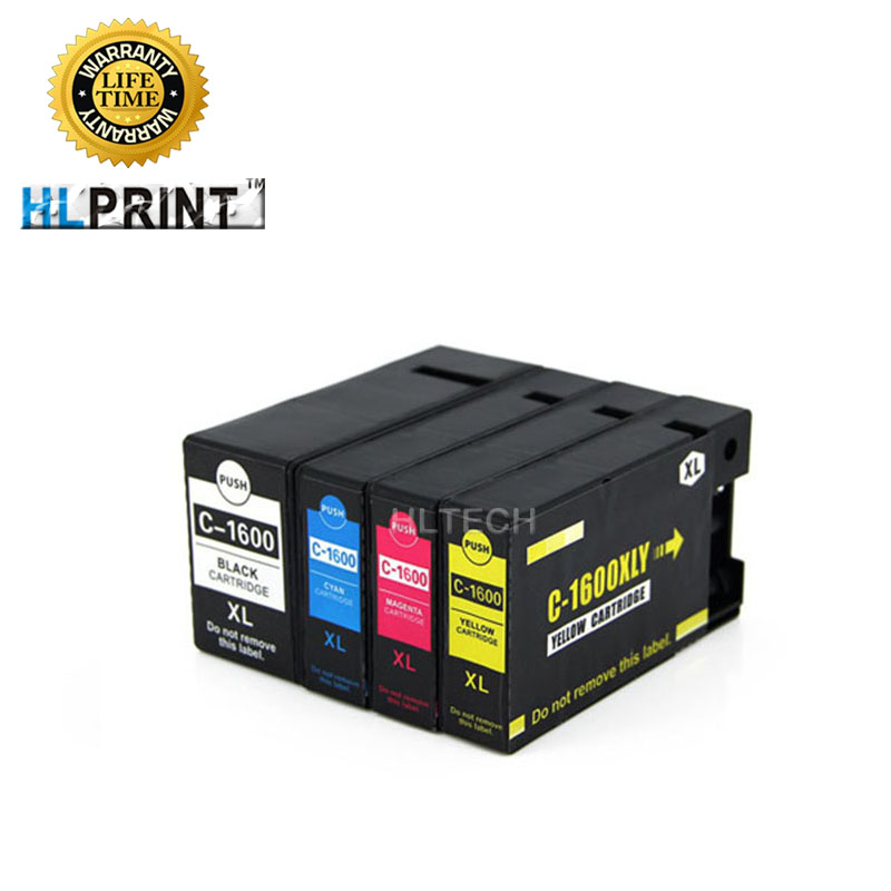 PGI1600 ink cartridge Compatible for Canon MAXIFY MB2060 MB2160 MB2360 MB2760 printer pigment ink 4pcs/lot pgi1600 xl for canon ink cartridge for canon pgi1600 empty ink cartrige with chip mb4060 mb2060 mb2360 printer ink box