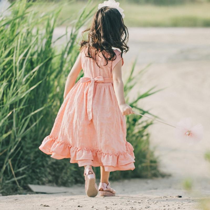 2018 καλοκαίρι νέο κορίτσι βαμβάκι λινό - Παιδικά ενδύματα - Φωτογραφία 3