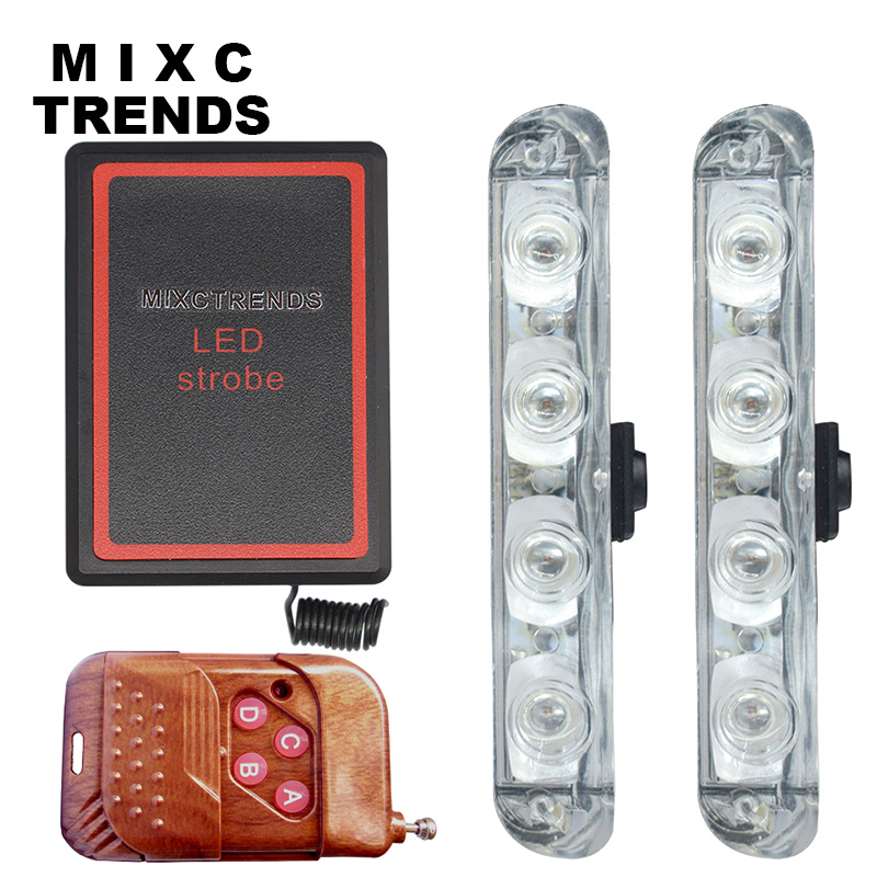 MIXC TRENDS New DC 12V LED Strobe Warning Police light Wireless Remote Car Truck Flashing Firemen Lights Ambulance Day light