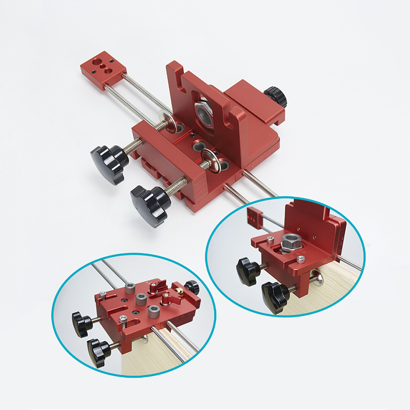 3 in 1 Hole Drill Punch Positioner Guide Locator Jig Joinery System Kit High Precision Dowelling