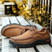 Высокое качество 2019 новые мужские удобные кроссовки непромокаемая обувь кожаные кроссовки модная повседневная обувь мужские большие размеры 38-48
