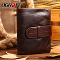 OGRAFF 2017 Genuine leather men wallet designer purse high quality clutch luxury brand business men wallet money clip short
