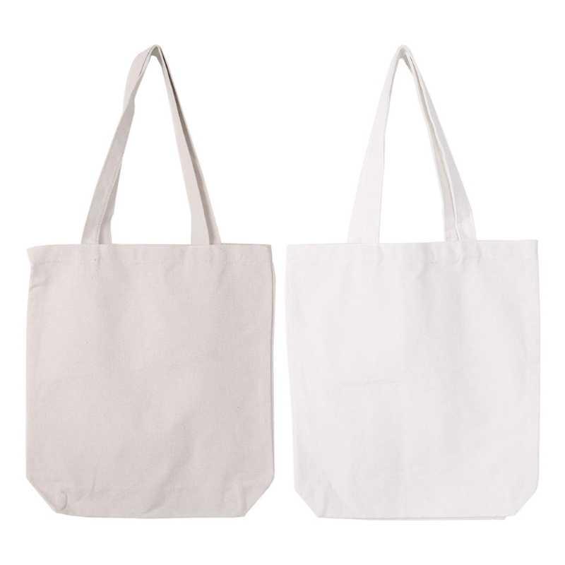 93a04f8009f THINKTHENDO DIY Canvas Tote Bag Women Shopper Shopping Bags Reusable ...