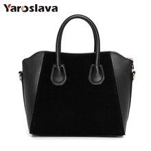 Hot Sale! Bag fashion bags 2019 patchwork nubuck leather women's handbag smiley shoulder bags free shipping M746