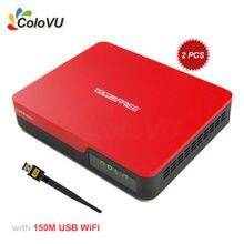 2 unids FTA Receptor de TV Por Satélite TocomFree S929 Plus + WiFi USB DVB-S/S2 con IKS SKS IPTV para Brasil/Chile/Sur américa