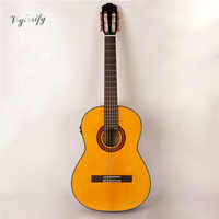 high gloss solid wood electro classic guitar free case free shipping