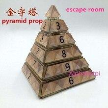 Реальной жизни номер побег комнаты реквизит Пирамидка для египетского фараона тема беспроводной Пирамида готовой продукции органов приключенческая игра
