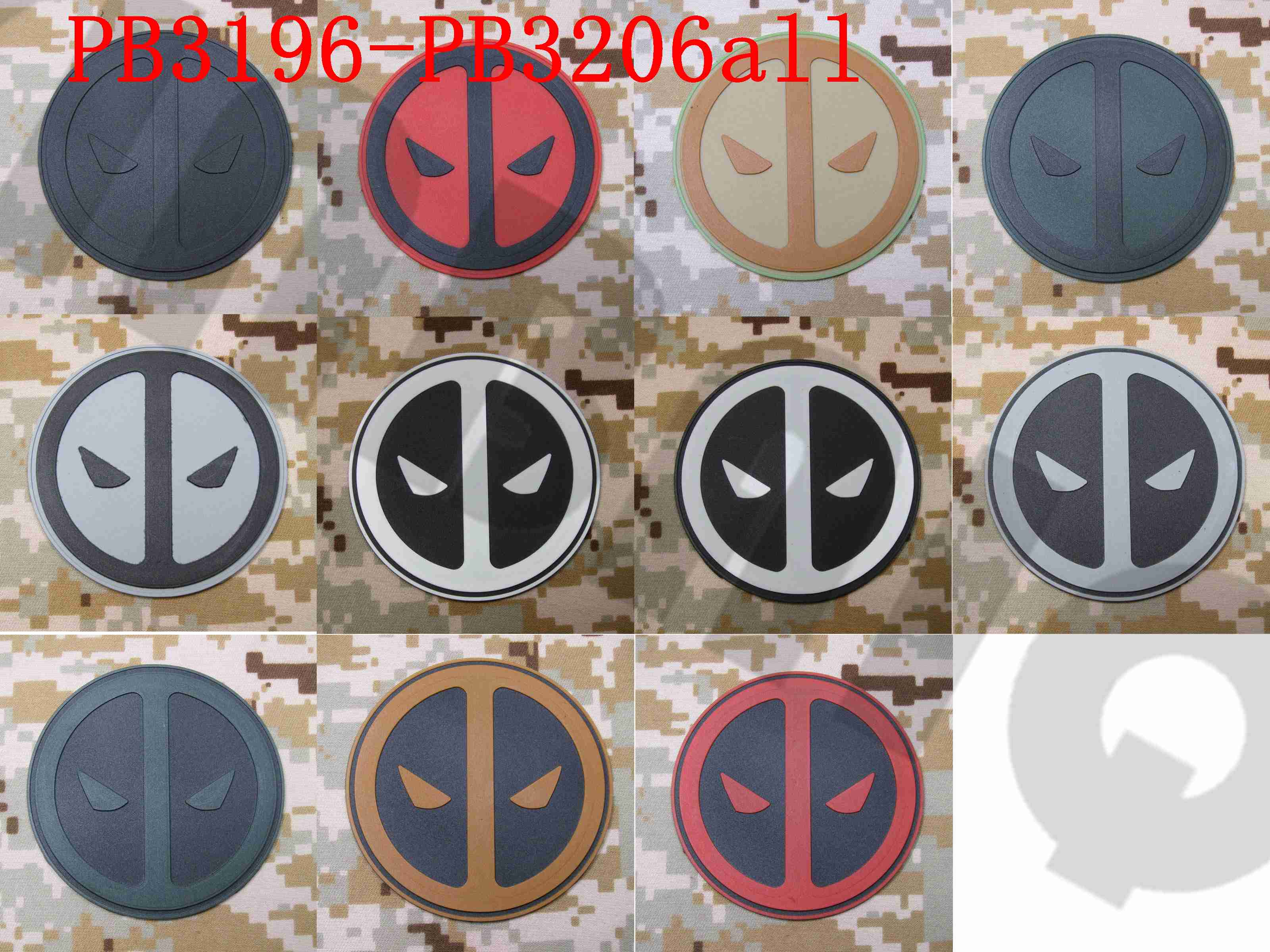 Marvel Deadpool Morale Patch Tactical Airsoft Hook And Loop