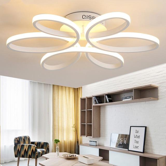 Us 8849 41 Offnowoczesne Lampy Sufitowe Led Do Salonu Luminaria Oświetlenie Led Sypialnia Oprawy Kryty Domu Grudnia Do Montażu Na Suficie Lampy W