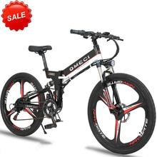 26 inch  folding frame aluminun mountain bicycle electric mountain bike 48V LI-ion battery 350w high speed brushless motor ebike