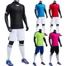 18 19 человек футбол Майки для взрослых и детей с короткими рукавами футбол рубашки и Шорты спортивный костюм QD 003