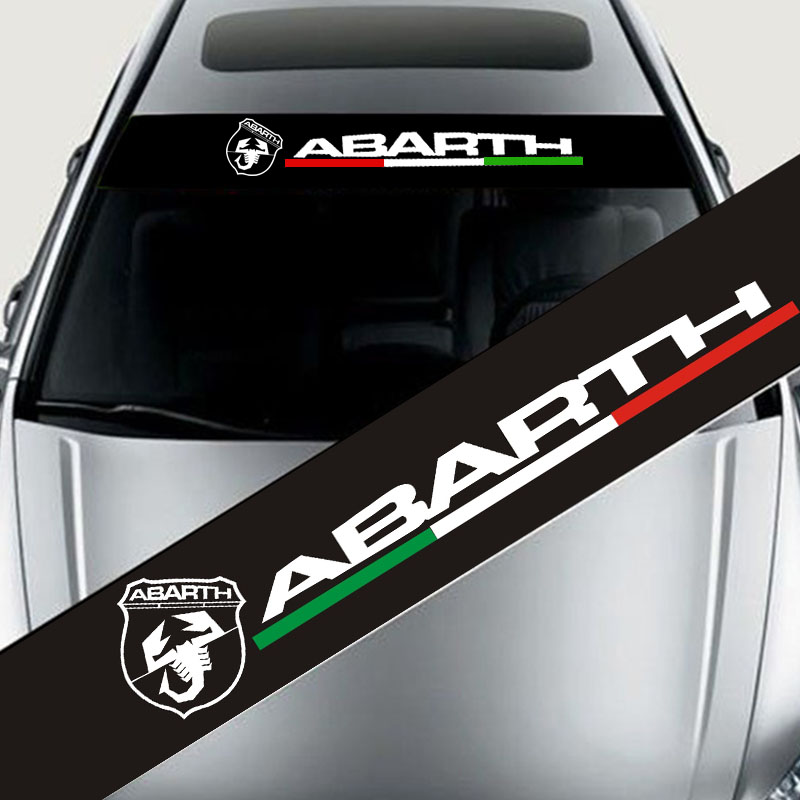 1pcs Automobile Eflective Front Windshield Banner Decal Car Sticker For ABARTH 500 Auto Exterio Car Styling