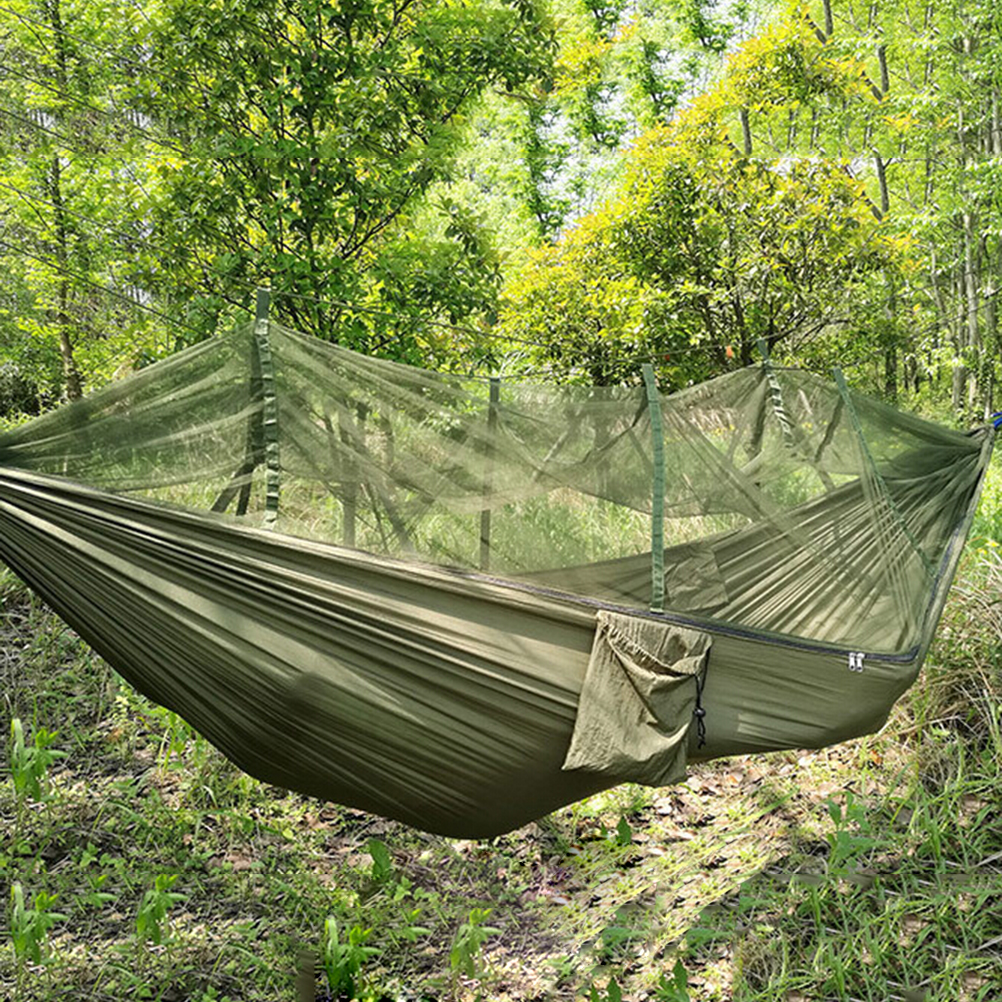 2 Person Outdoor Patio Bed Swing With Mosquito Net Camping Double