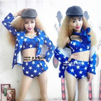Cantantes femeninas trajes nueva discotecas DS trajes Bar Jazz azul  estrellas juego f9cee0a5e98