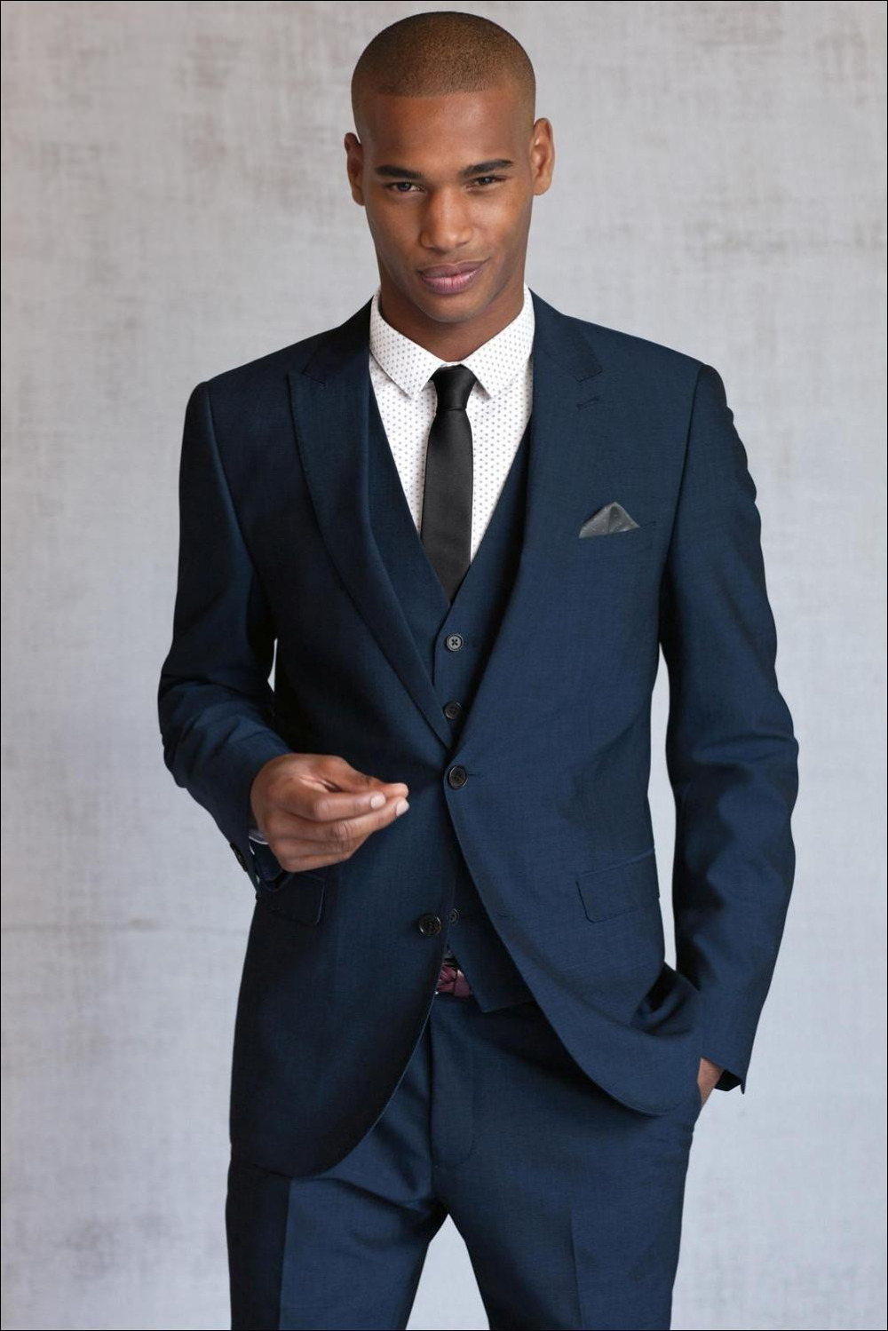 Blue Black Wedding Suits for Men